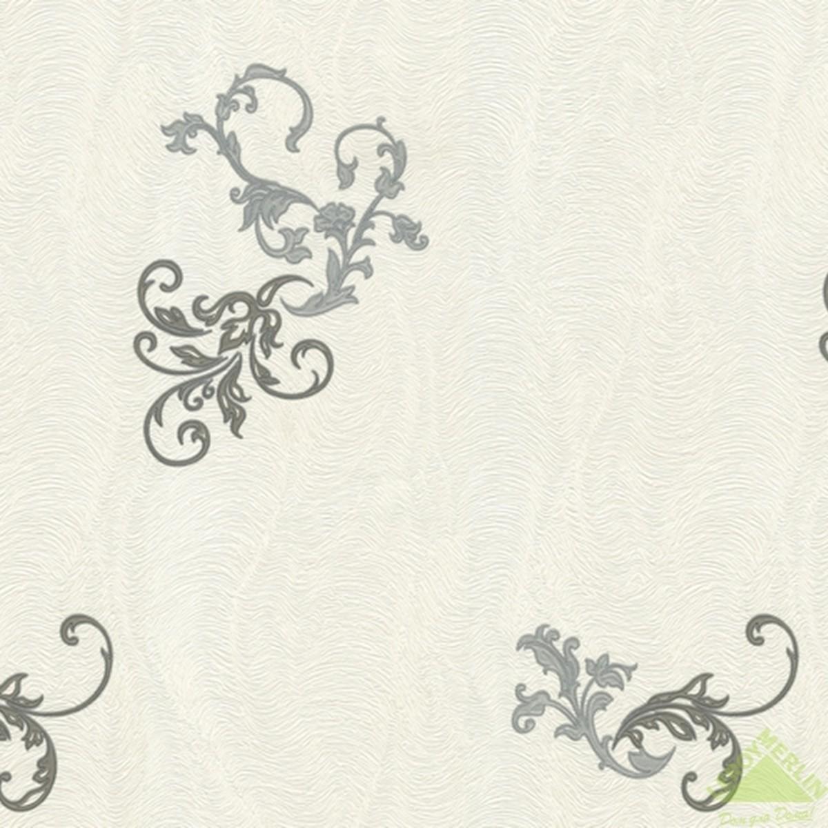 Обои флизелиновые 106х10 м орнамент белый