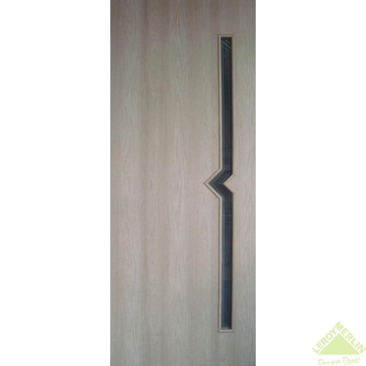 Дверное полотно остеклённое Вега 700x2000 мм ясень с фурнитурой