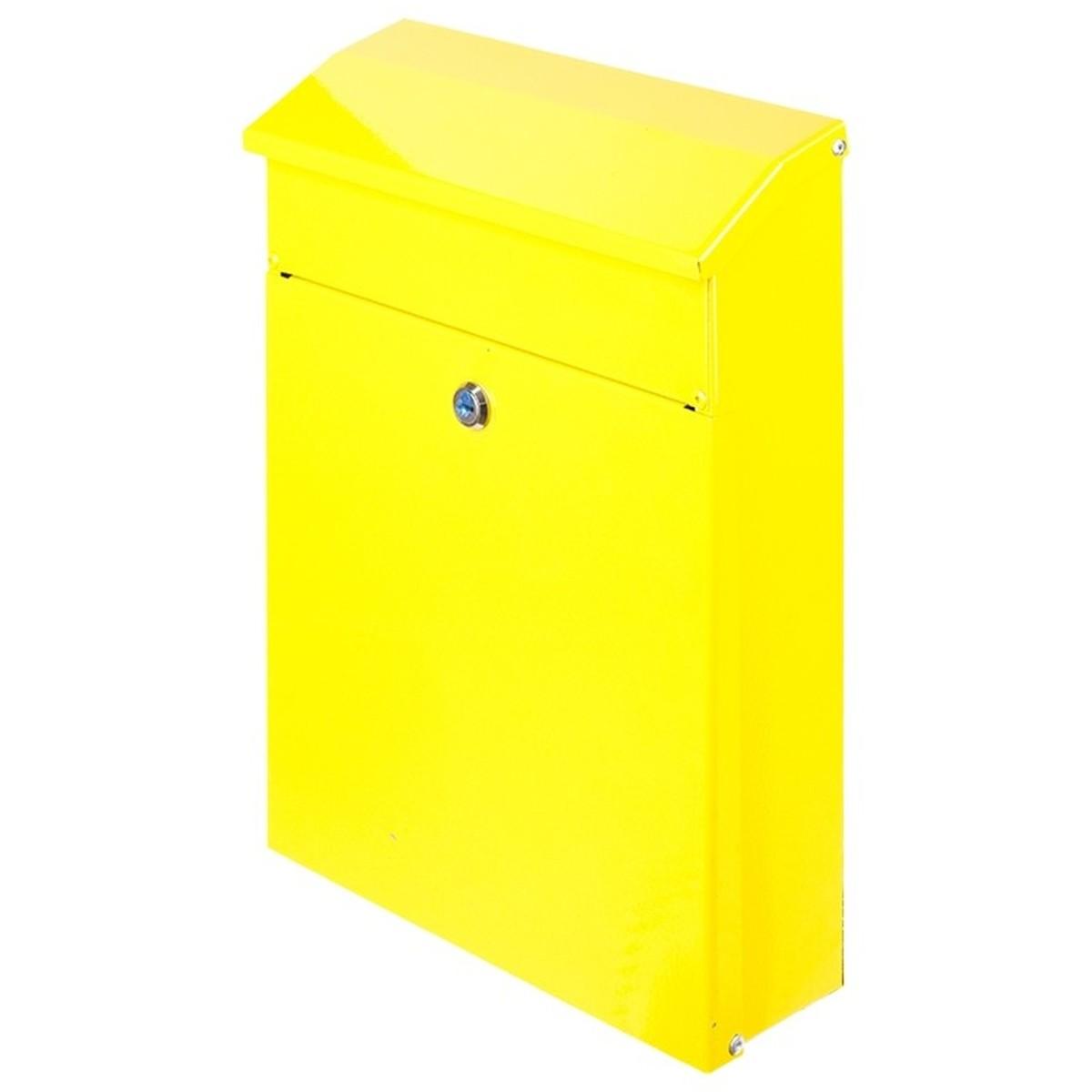 Ящик почтовый сталь цвет желтый