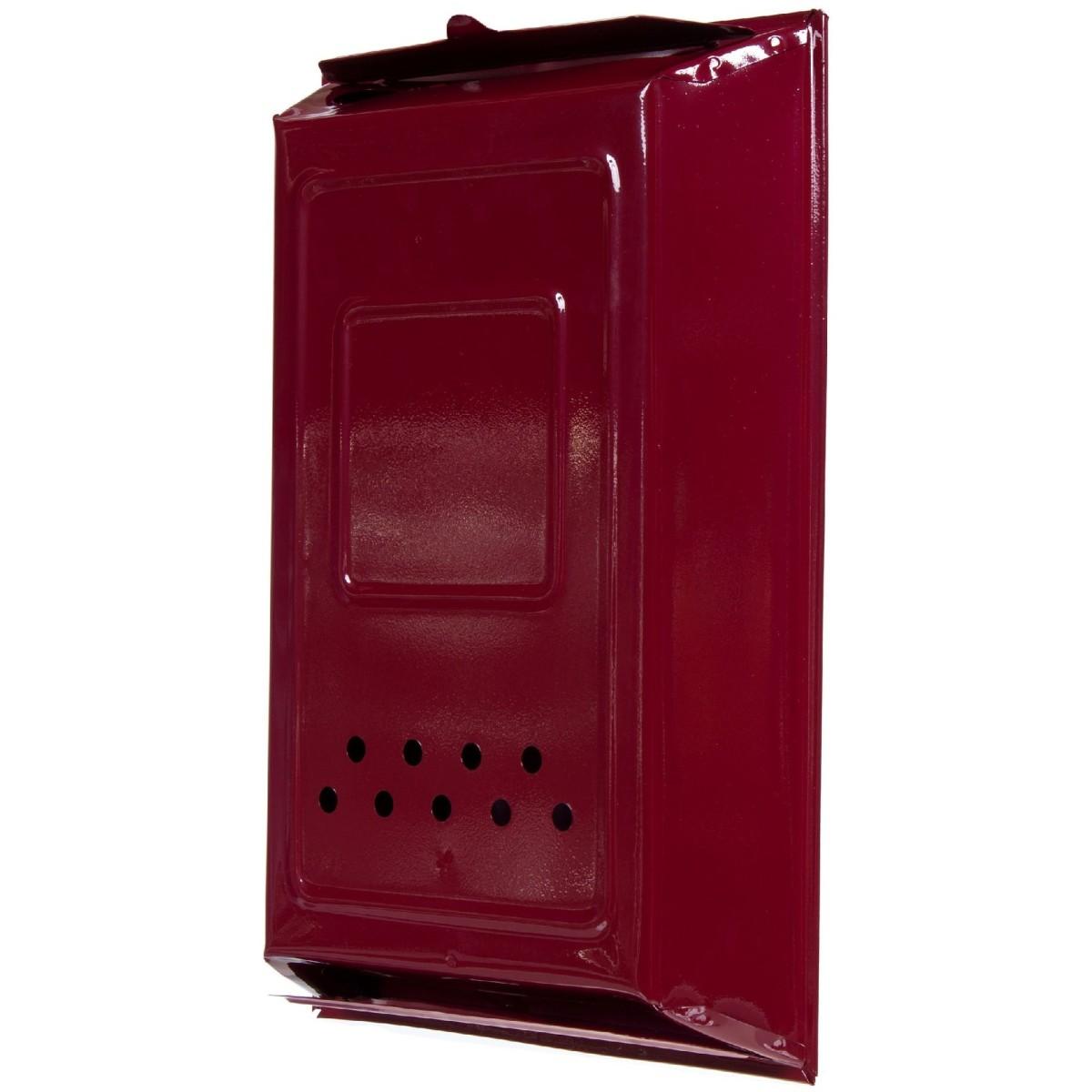 Ящик почтовый цвет бордовый