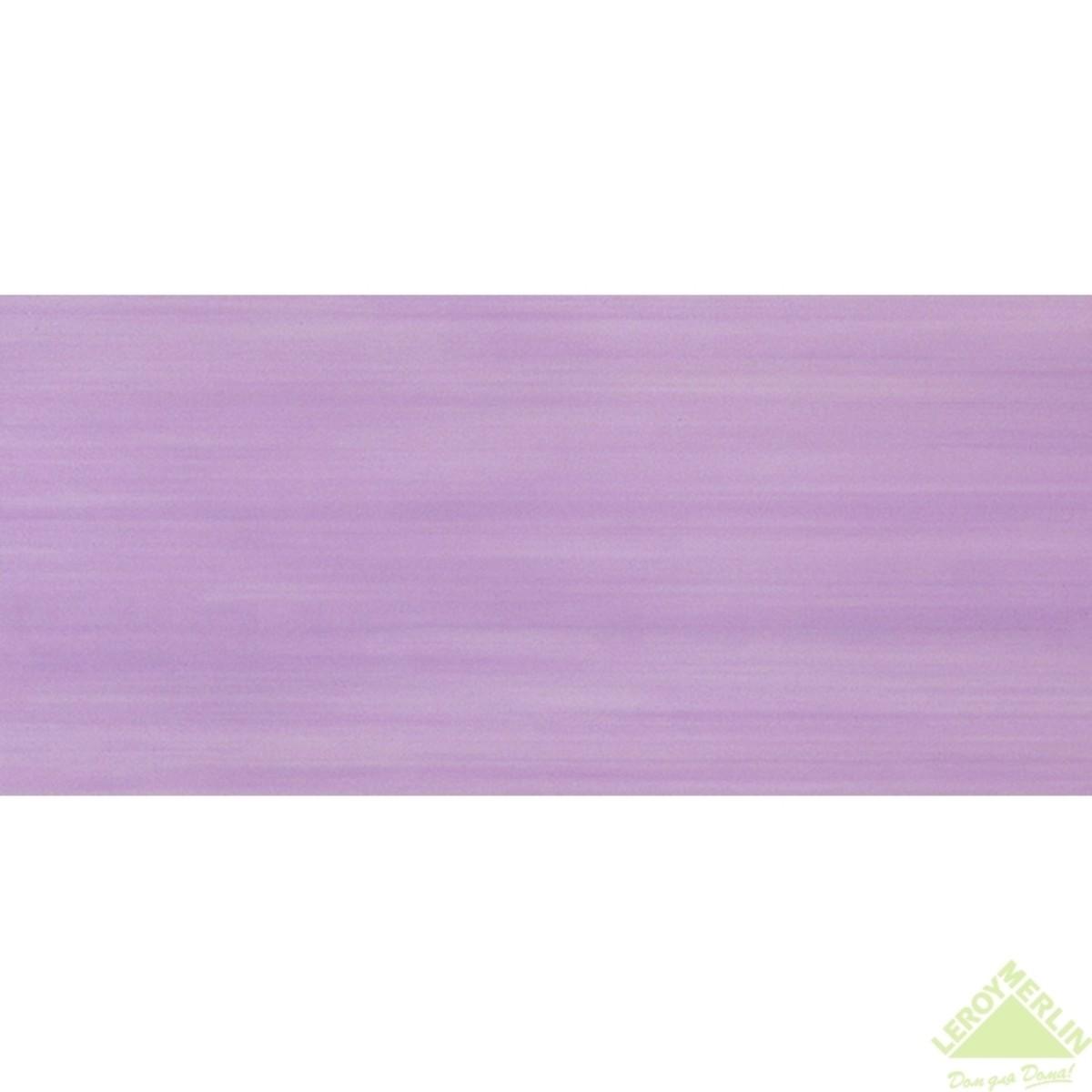 Плитка настенная Сатари цвет лиловый 20х50 см 1 м2