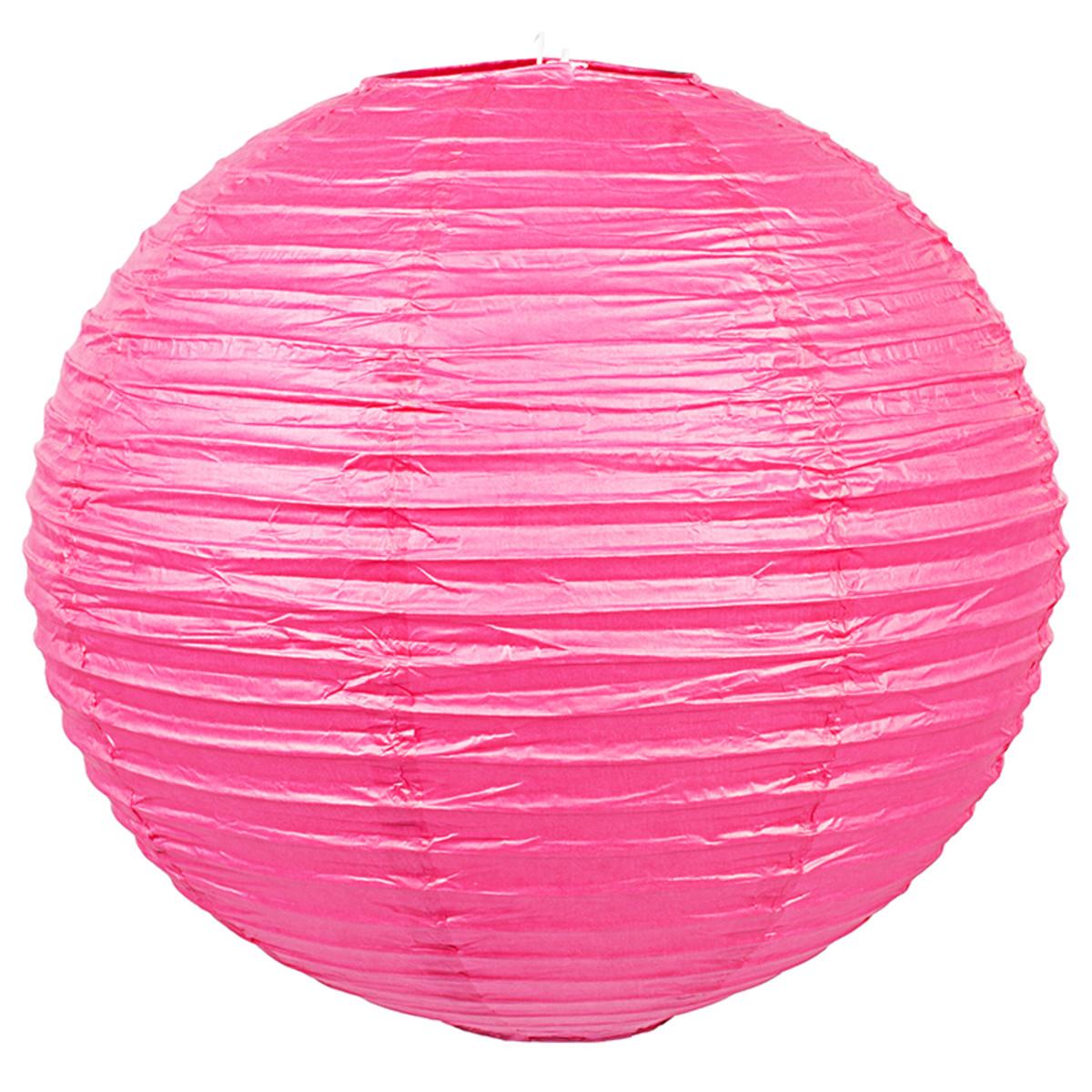 Абажур Baoji 40 см бумага цвет розовый металлик