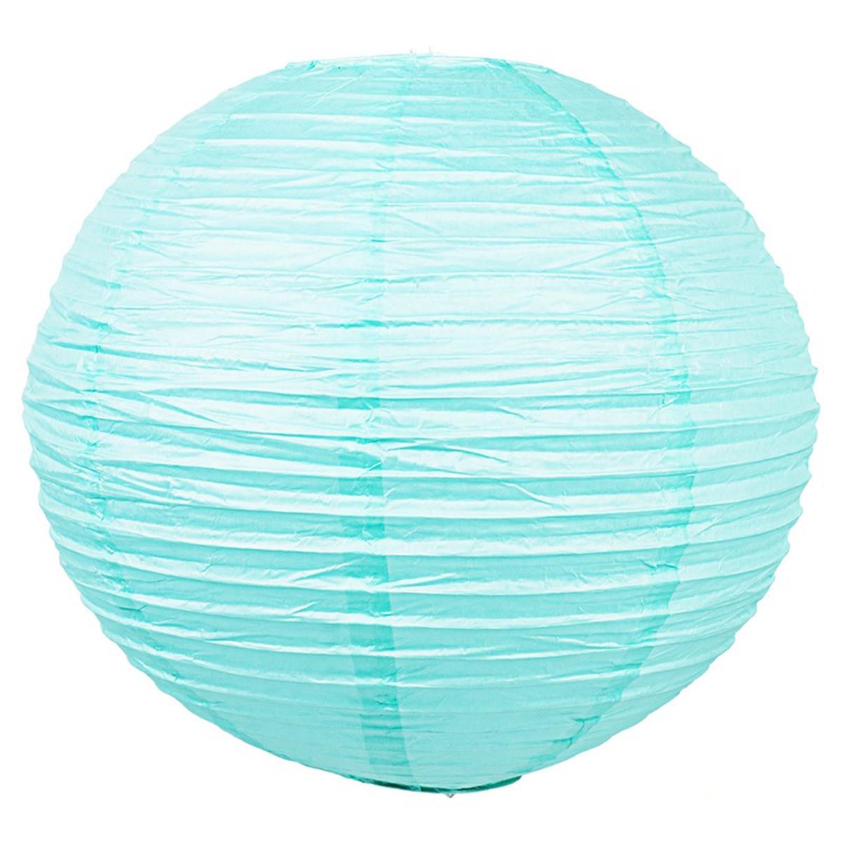 Абажур Baoji 40 см бумага цвет голубой металлик