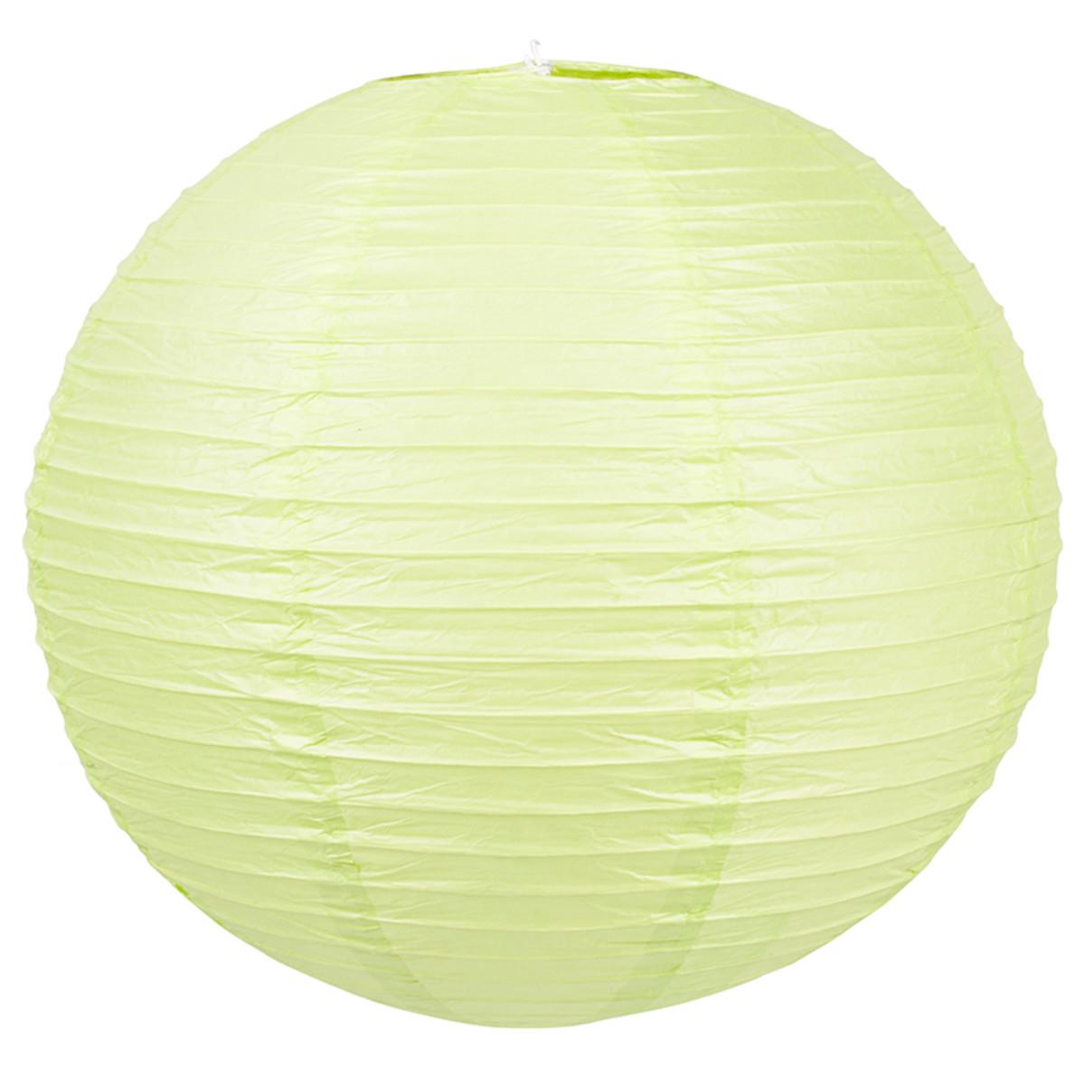 Абажур Baoji 40 см бумага цвет зелёный металлик