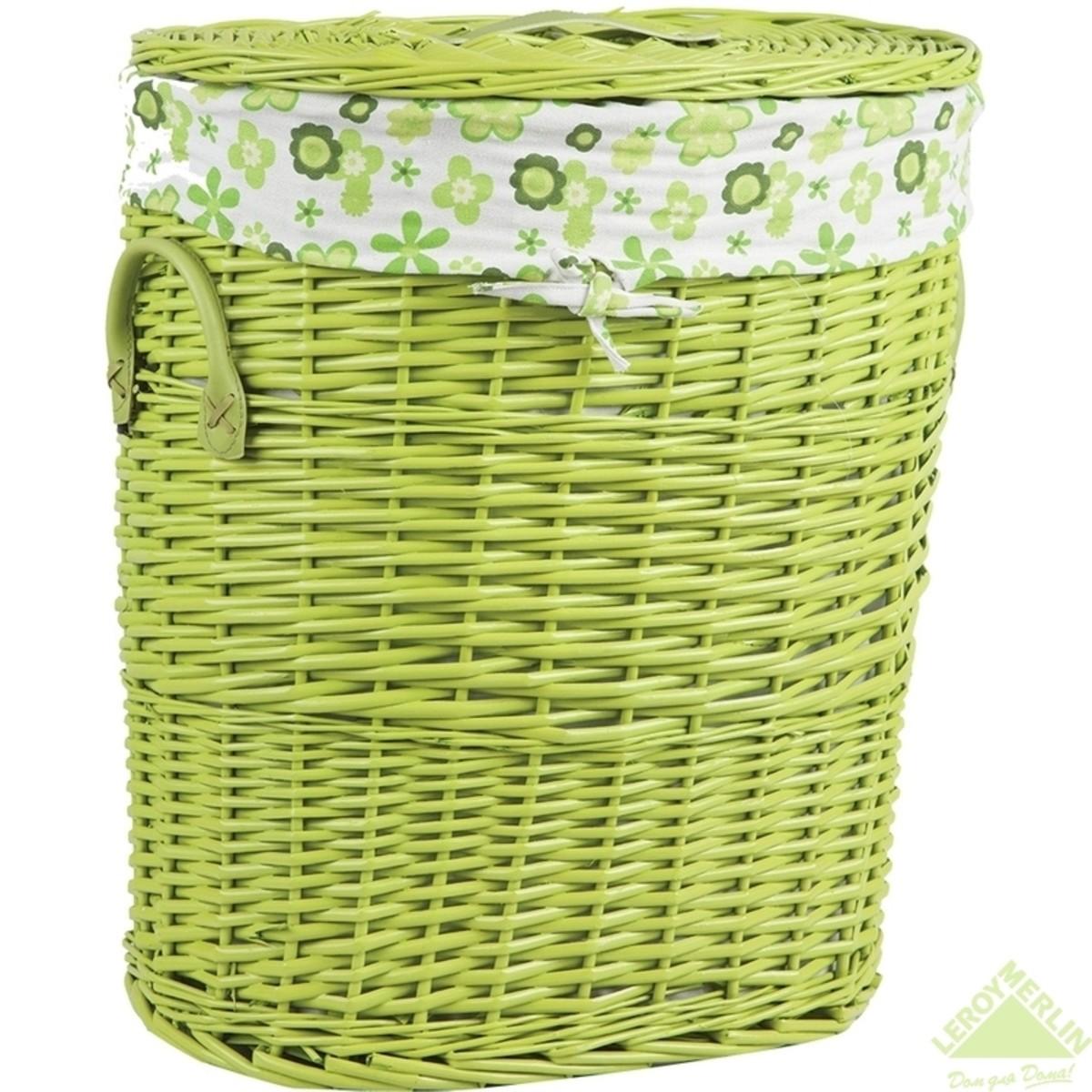 Корзина для белья Ива зеленая 45 л