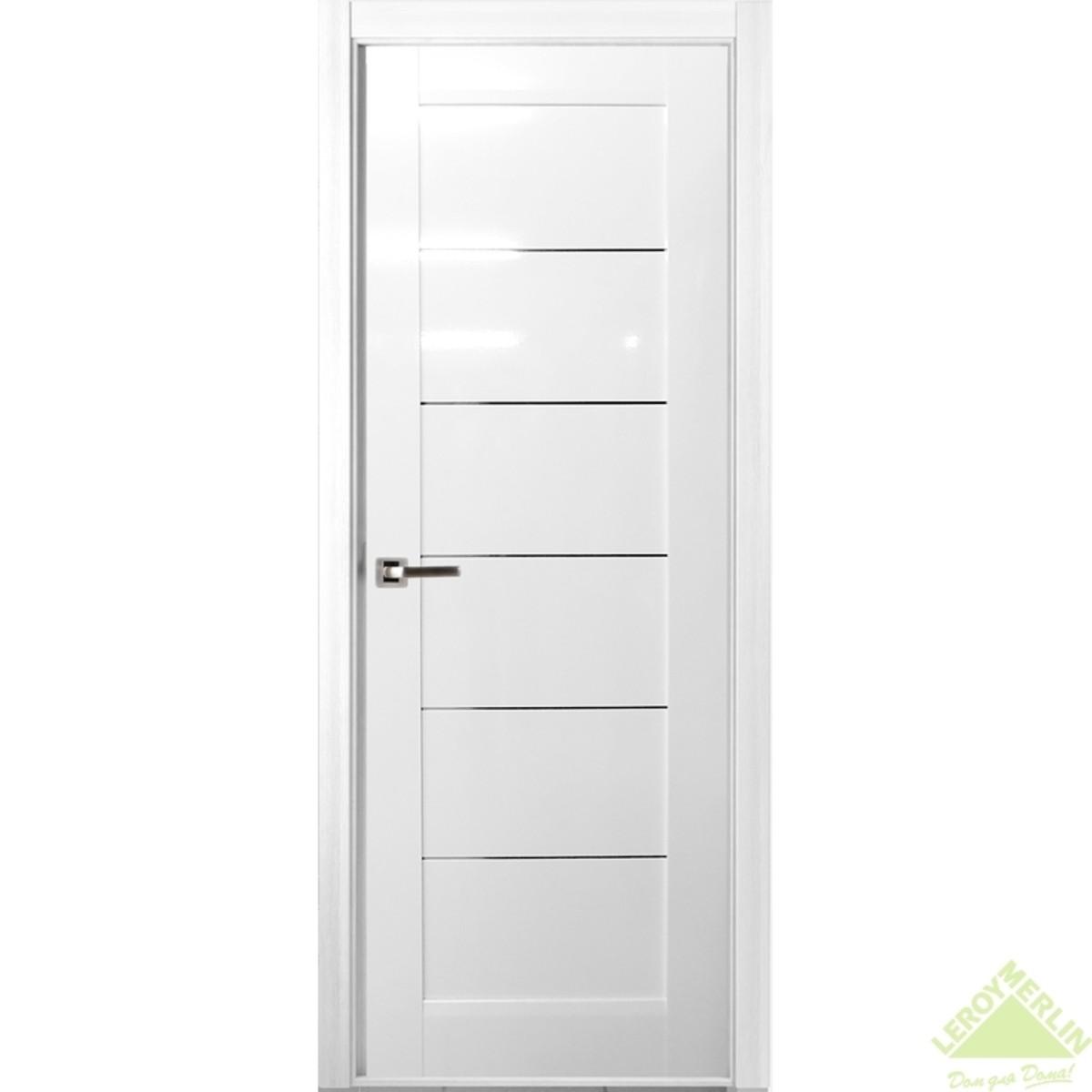 Дверь Межкомнатная Глухая Мирелла 900x2000 Искусственный Шпон Белый Глянец