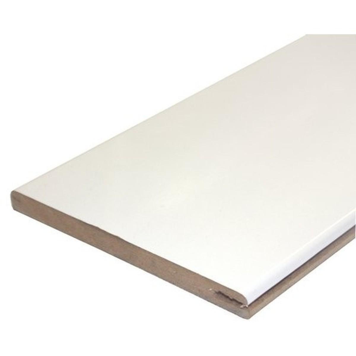 Добор 125 мм искусственный шпон цвет белый глянец