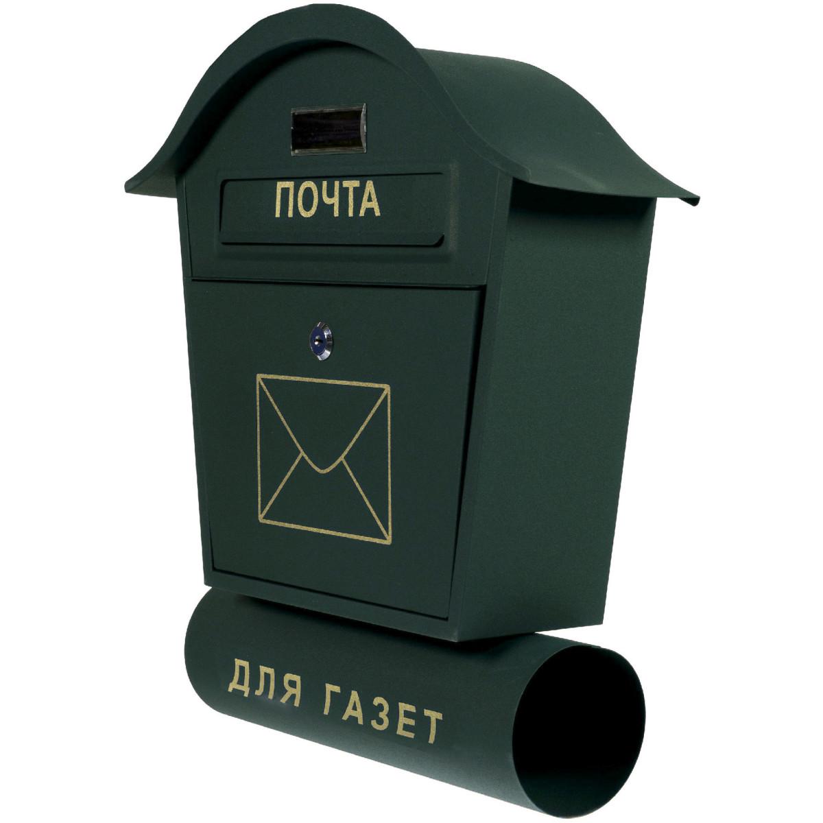 Ящик почтовый Standers YX-M001-GN стальной цвет зеленый