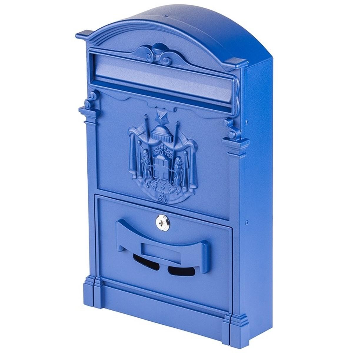 Ящик почтовый Standers MB-002-B алюминий/сталь цвет синий
