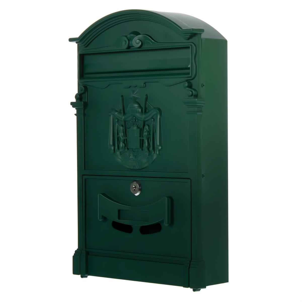 Ящик почтовый Standers MB-002-G алюминий/сталь цвет зеленый
