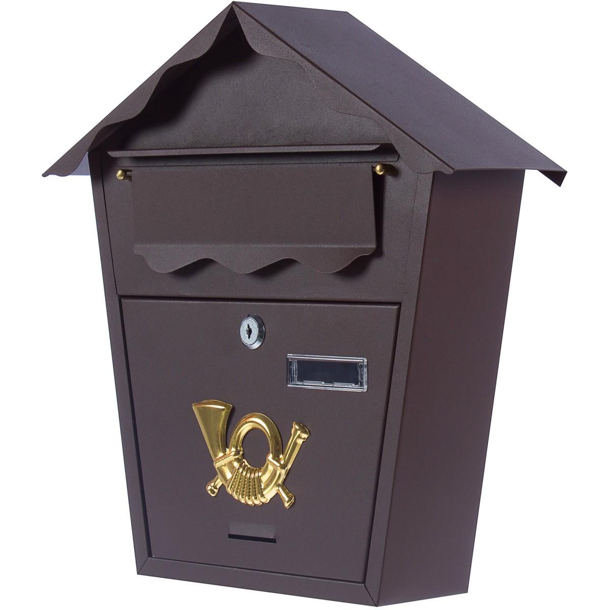 Ящик почтовый Standers YX-7011-BR стальной цвет коричневый