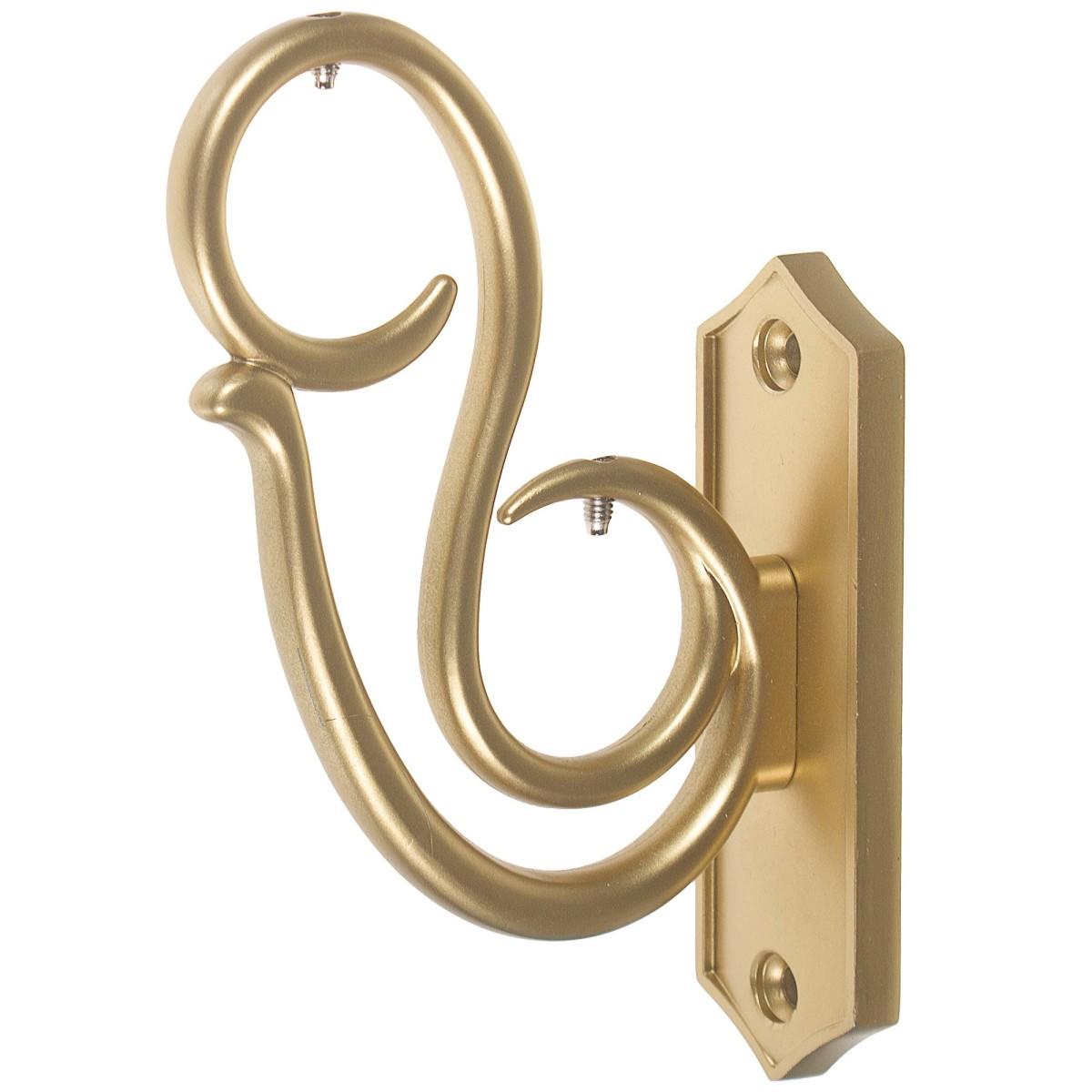 Держатель двухрядный «Завиток» 7 см цвет золото матовое