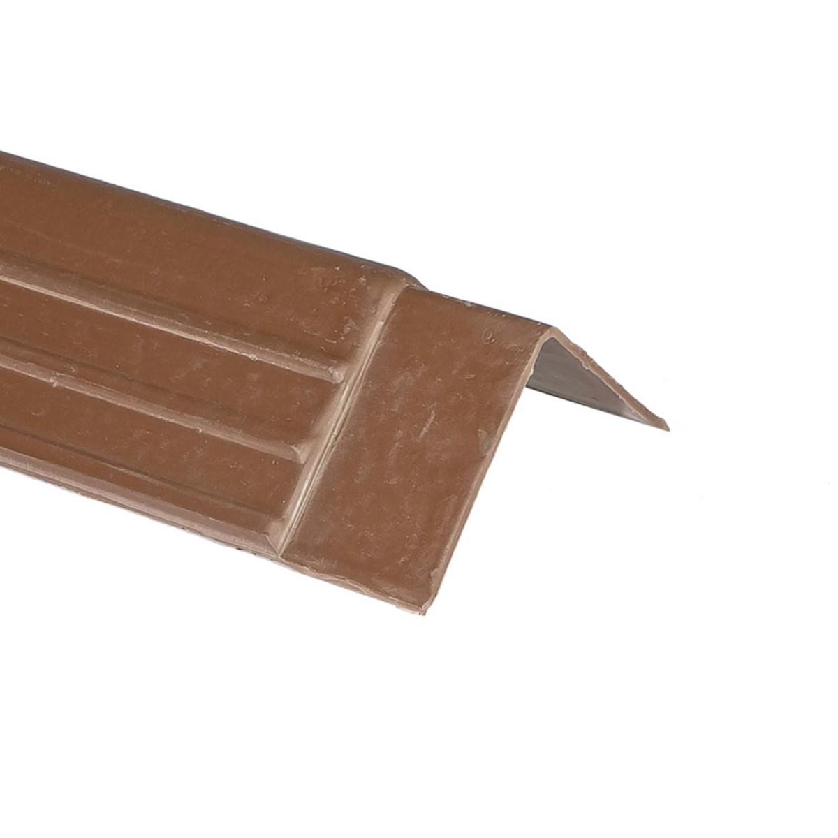 Планка ветровая Керамопласт 5x150x1210 мм цвет коричневый
