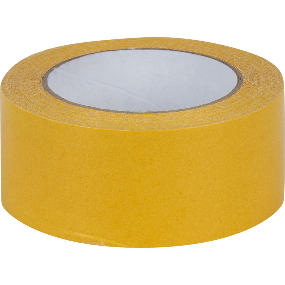 Лента клейкая двухсторонняя усиленной фиксации 0.05 мм х 25 м для укладки напольных покрытий