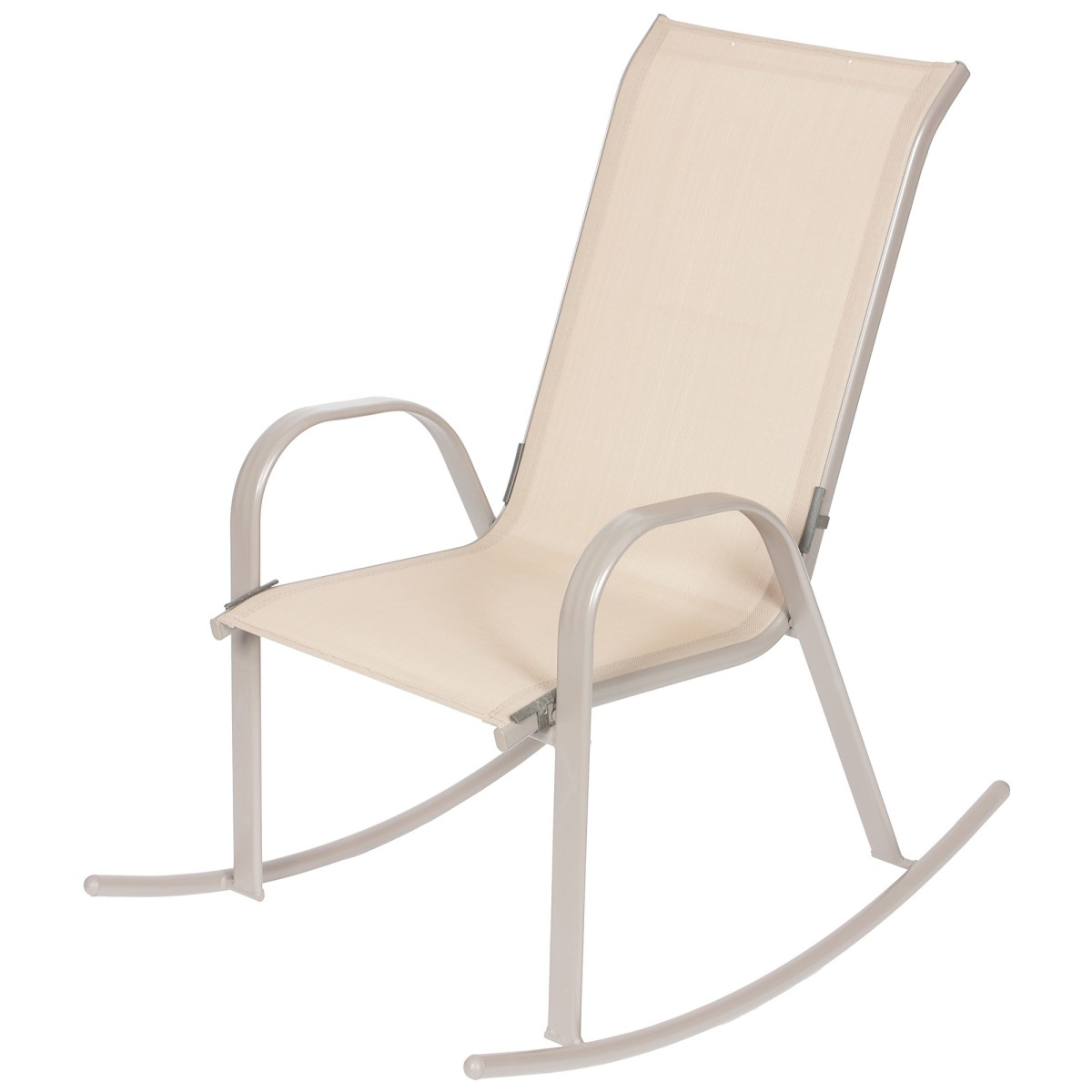 Кресло-качалка 540/620x980x910 мм металл/ткань  цвет бежевый