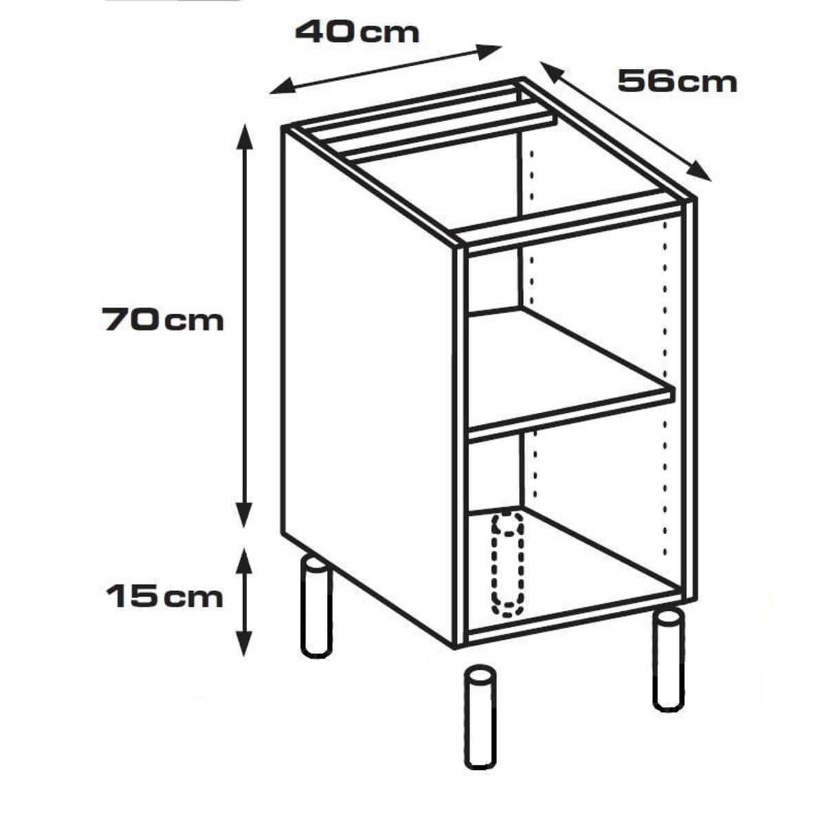 Каркас напольный 40х56х70 см белый ЛДСП