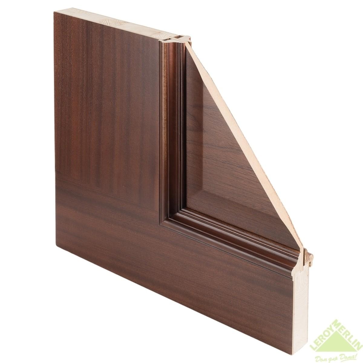 Дверь межкомнатная остеклённая Вельми 800x2000 мм шпон сапели