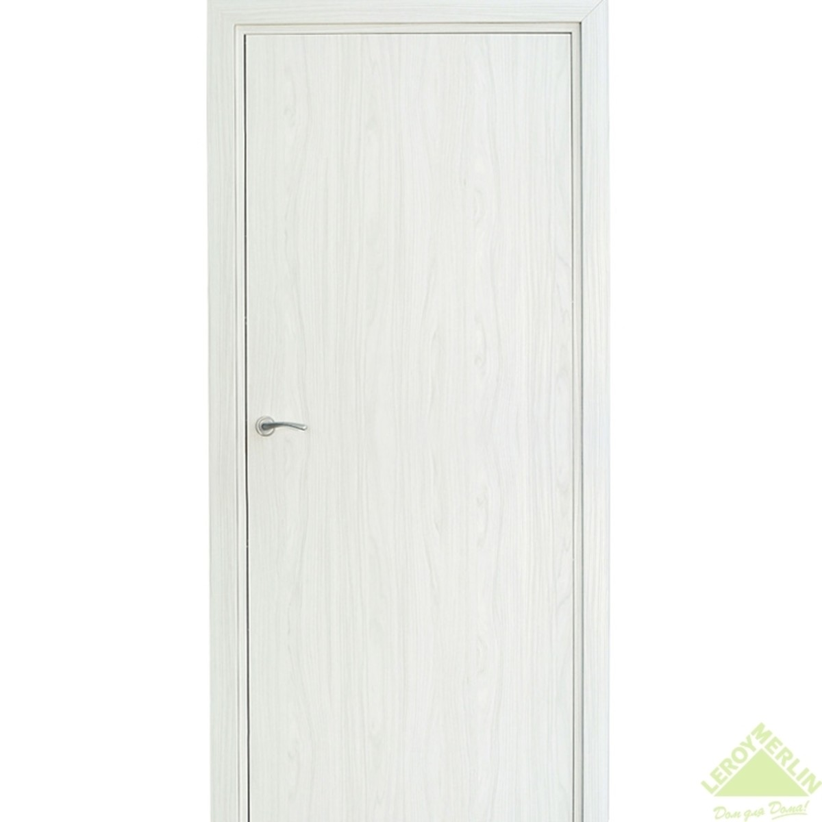 Дверь межкомнатная глухая Фортунато 800 800x2000 мм снежный палисандр