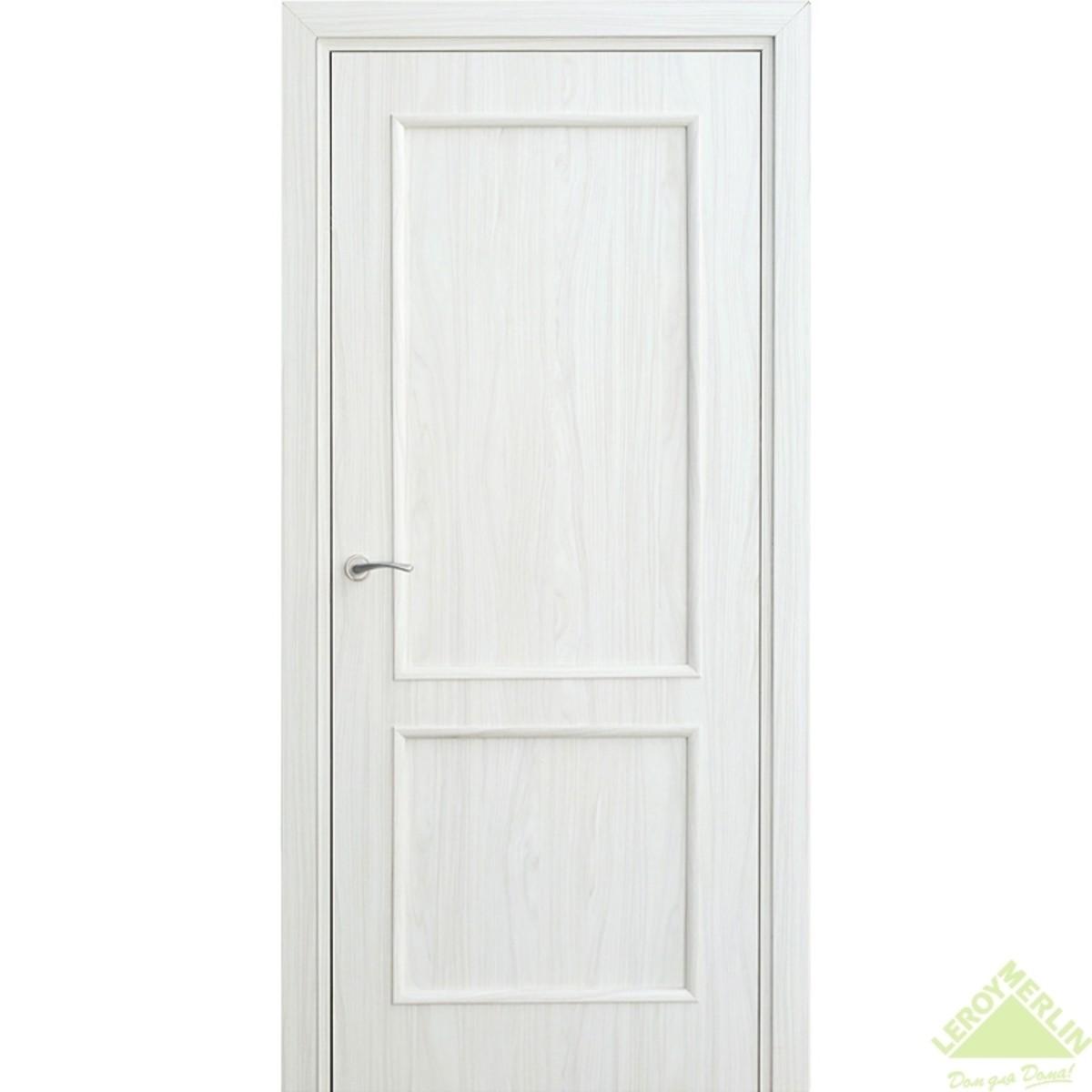Дверь межкомнатная глухая Фортунато 820 800x2000 мм снежный палисандр