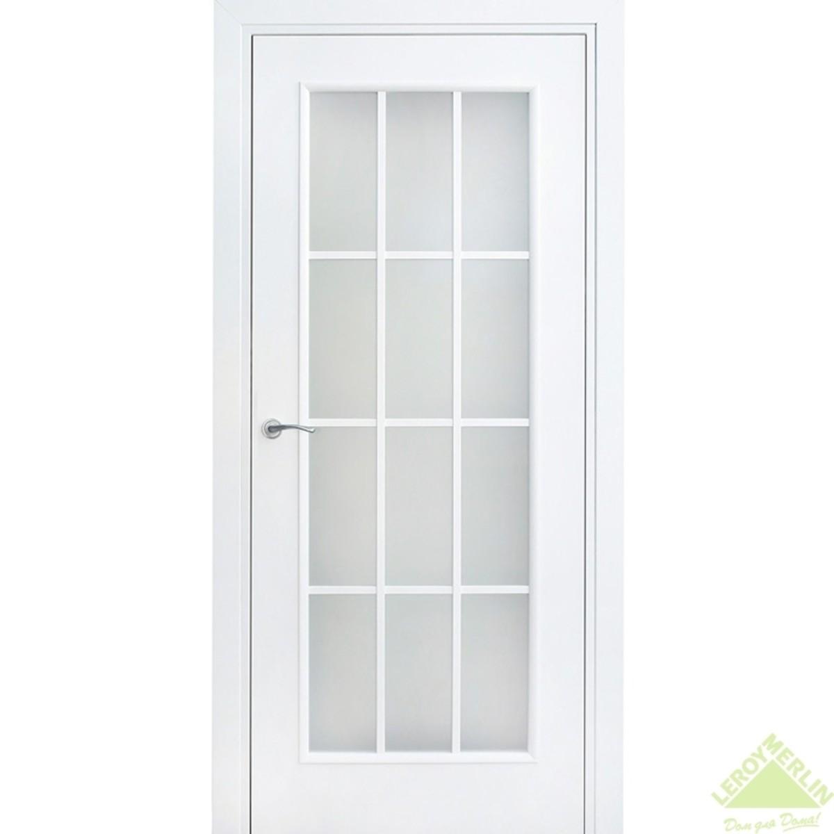 Дверь Межкомнатная Остеклённая Фортунато 8012 600x2000 Белый