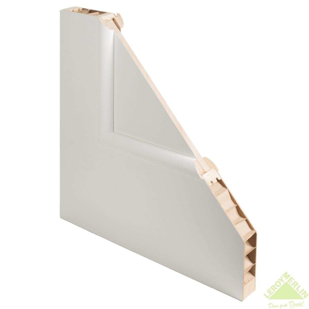 Дверь Межкомнатная Глухая Фортунато 810 600x2000 Белый