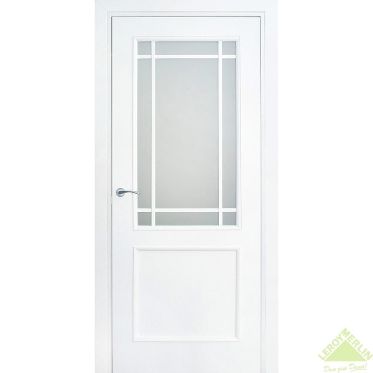 Дверь межкомнатная остеклённая Фортунато 819 800x2000 мм белый