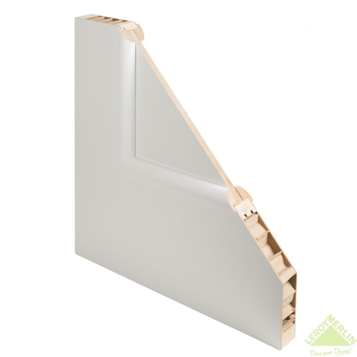 Дверь Межкомнатная Остеклённая Фортунато 819 2Х600x2000 Белый