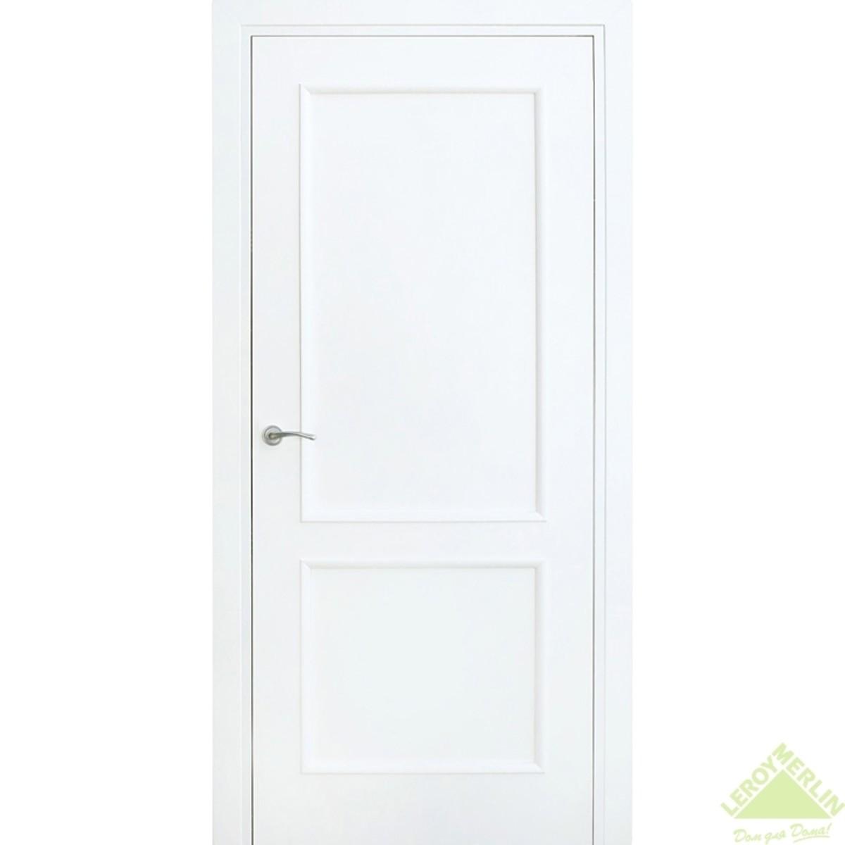 Дверь Межкомнатная Глухая Фортунато 820 900x2000 Белый