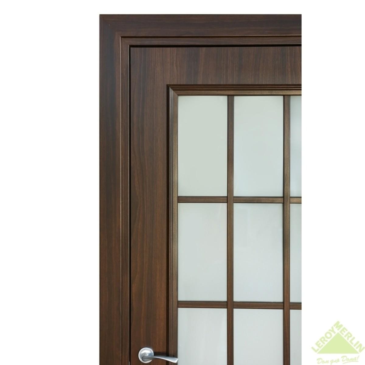 Дверь Межкомнатная Остеклённая Альтро 819 600x2000 Орех Марроне