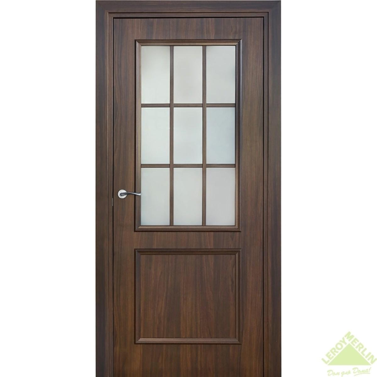 Дверь межкомнатная остеклённая Альтро 819 900x2000 мм орех марроне