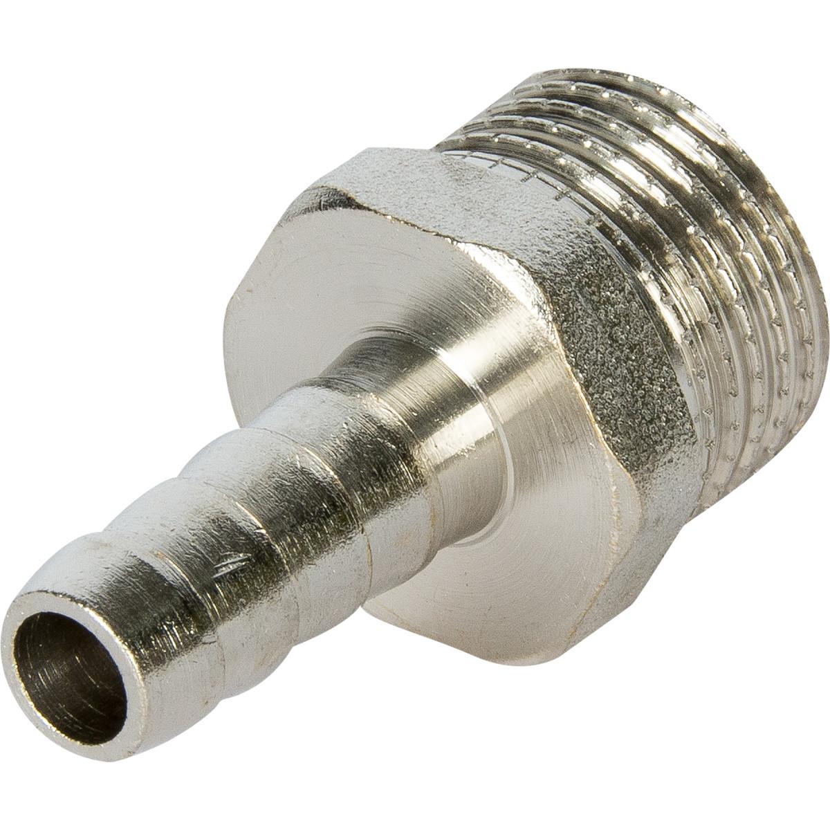 Штуцер газовый Ростерм 1/2 НР х 10 мм для шланга латунь/сталь