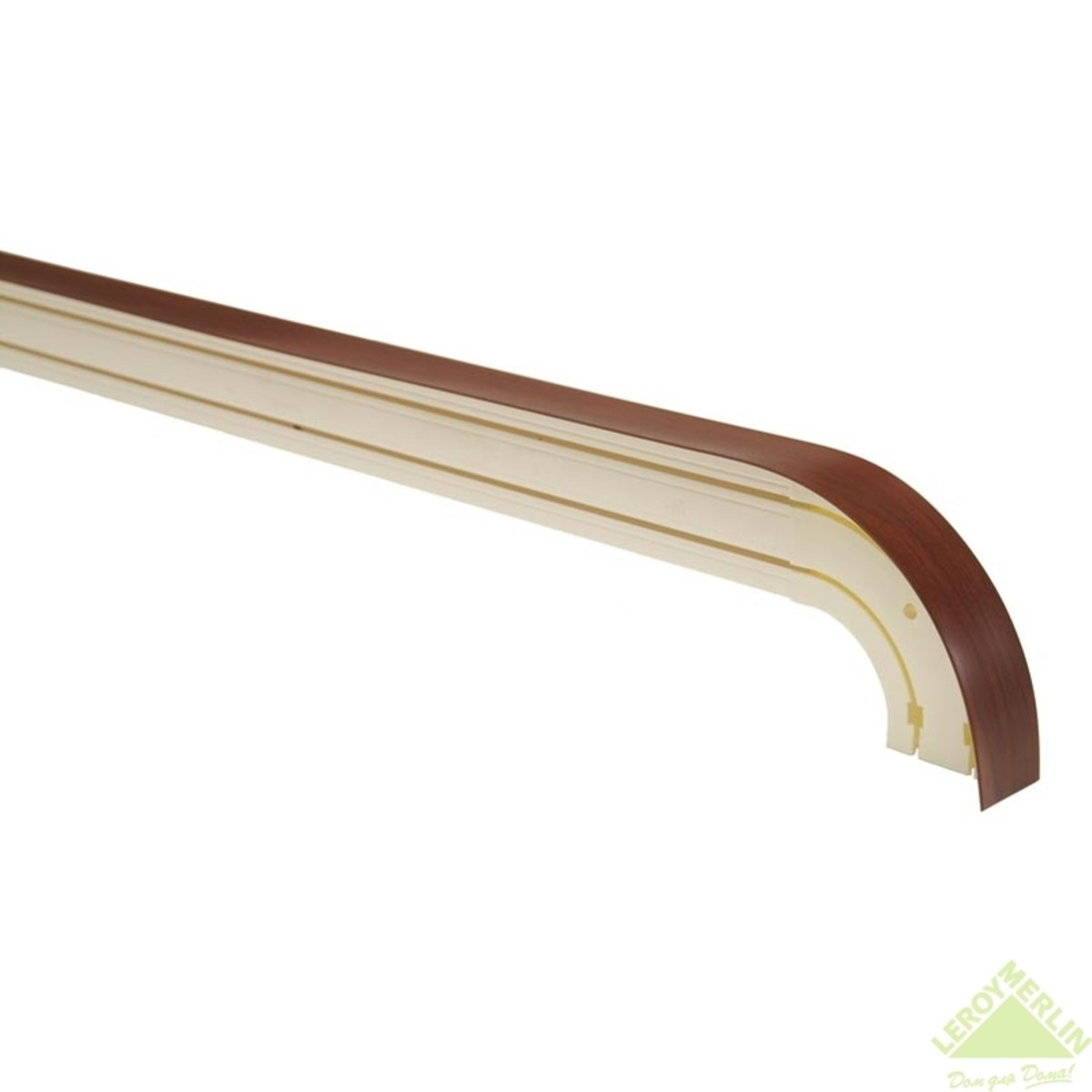 Бленда 75 мм для пластикового карниза темный орех 1 пог.м