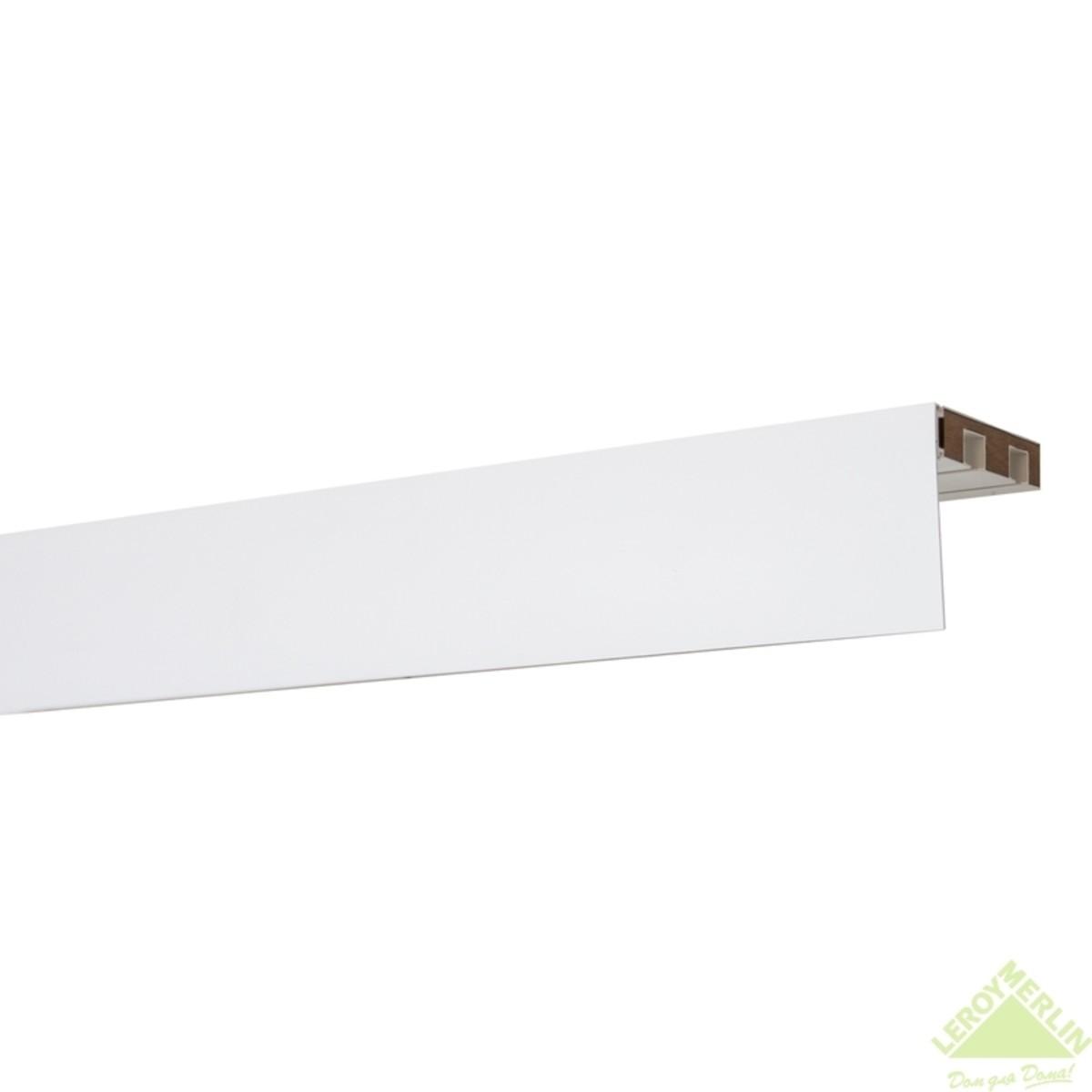 Бленда 75 мм для пластикового карниза белый глянец 1 пог.м
