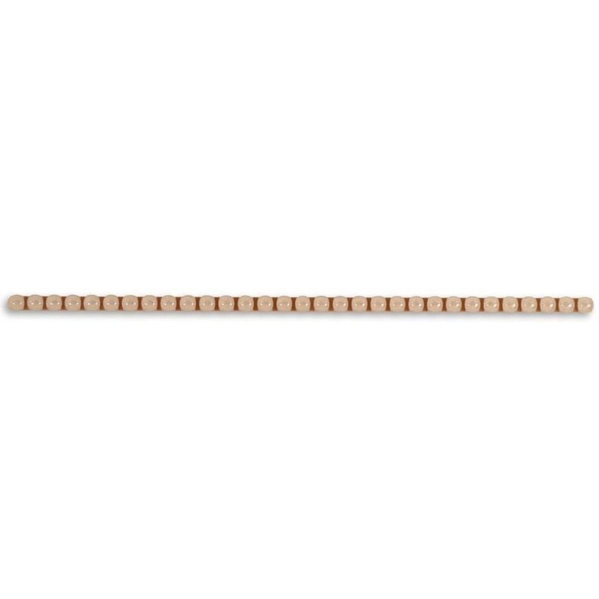 Бордюр «line Сrema» 0.6x25 см бусинки цвет бежевый