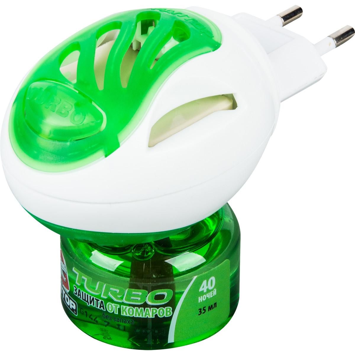 Комплект Раптор Turbo фумигатор и жидкость без запаха 40 ночей