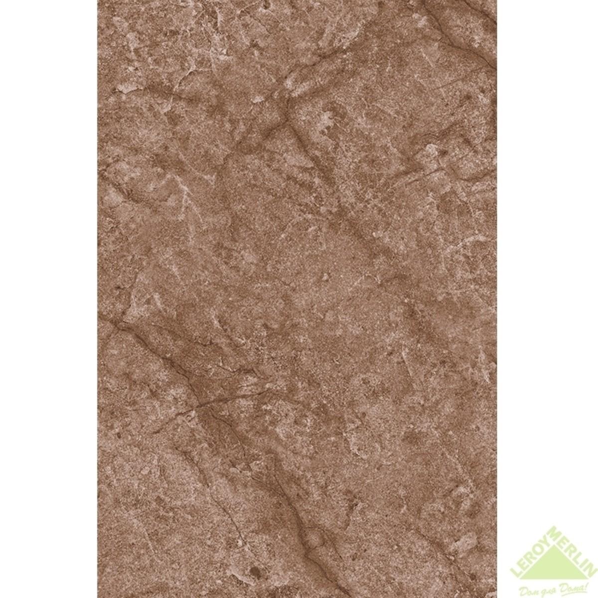 Плитка настенная Альпы низ цвет коричневый 20х30 см 144 м2