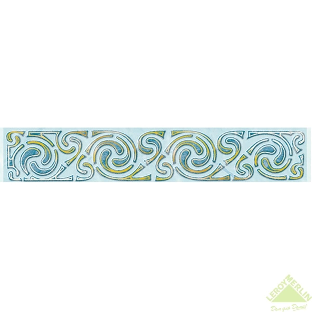 Бордюр декоративный для облицовки стен Веста С1 цвет голубой 20х35 см