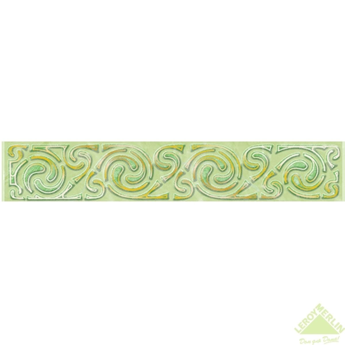 Бордюр декоративный для облицовки стен Веста С1 цвет салатовый 20х35 см