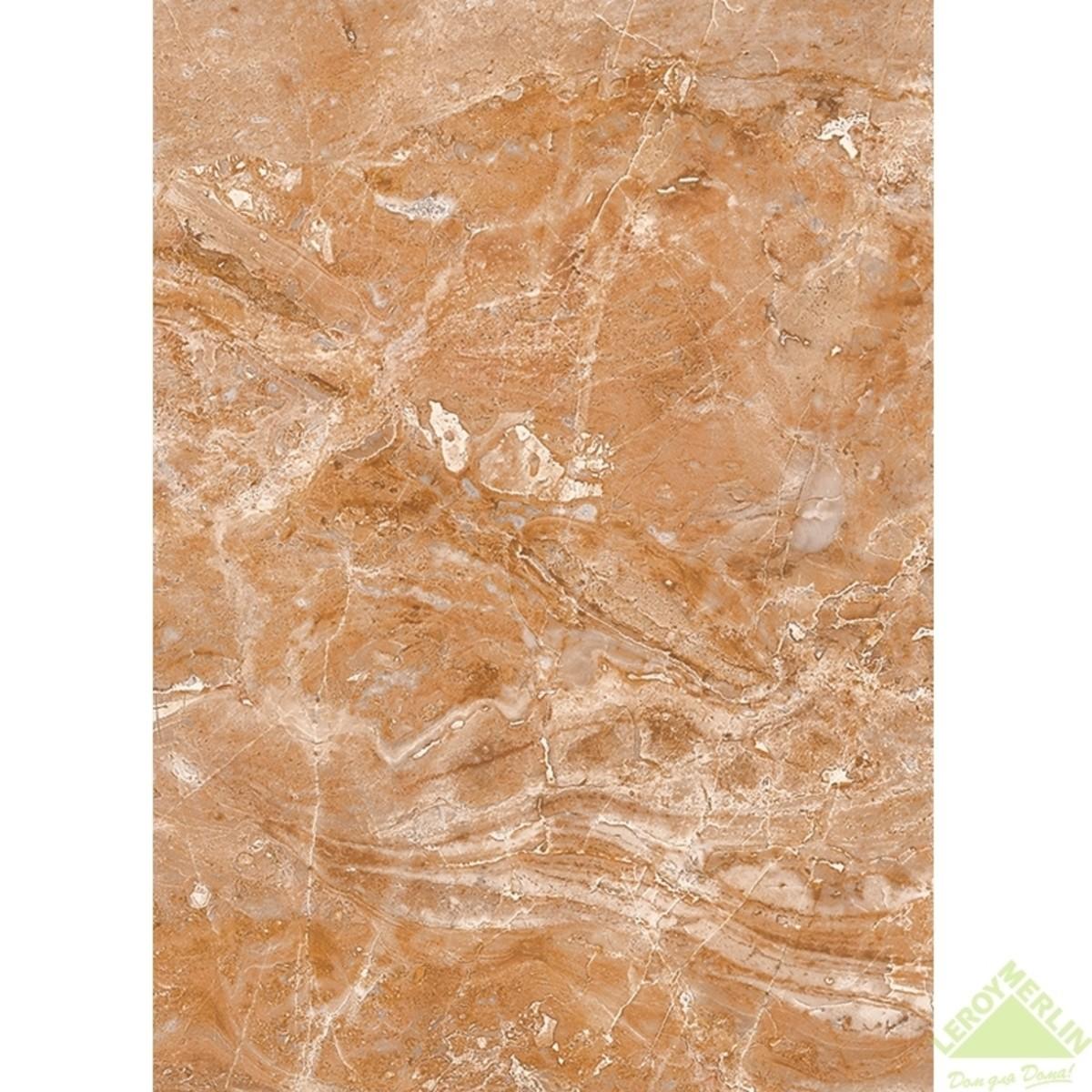 Плитка настенная Непал низ цвет коричневый 25х35 см 158 м2