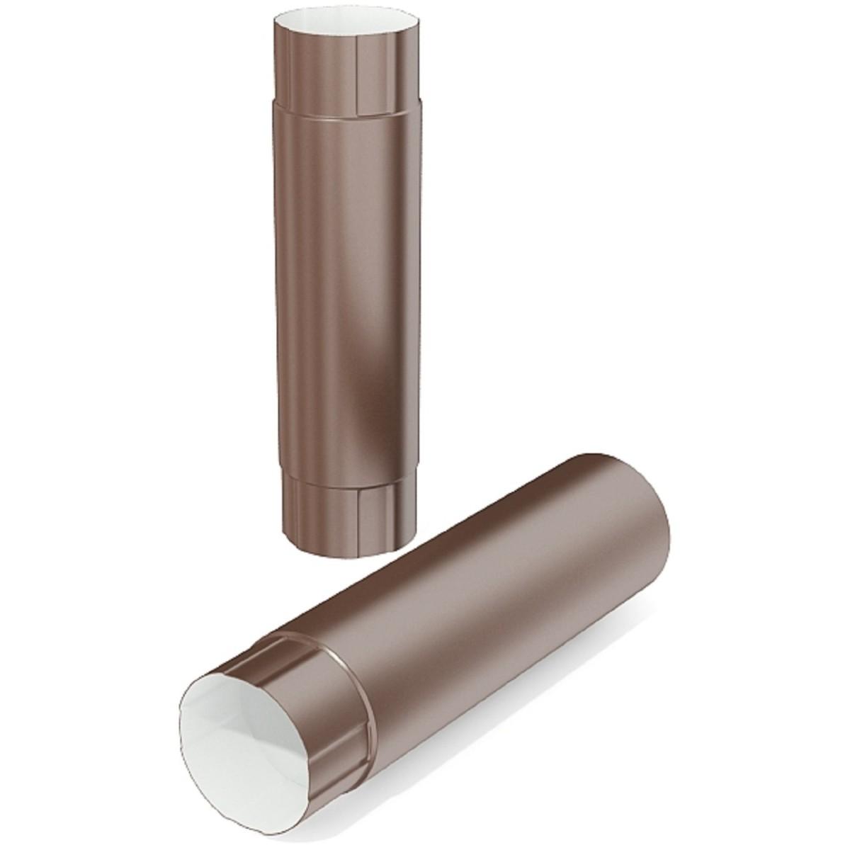 Труба водосточная 100x1000 мм цвет коричневый