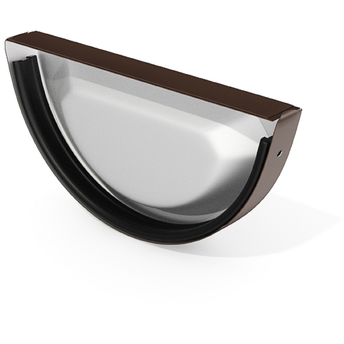 Заглушка желоба 125 мм цвет коричневый