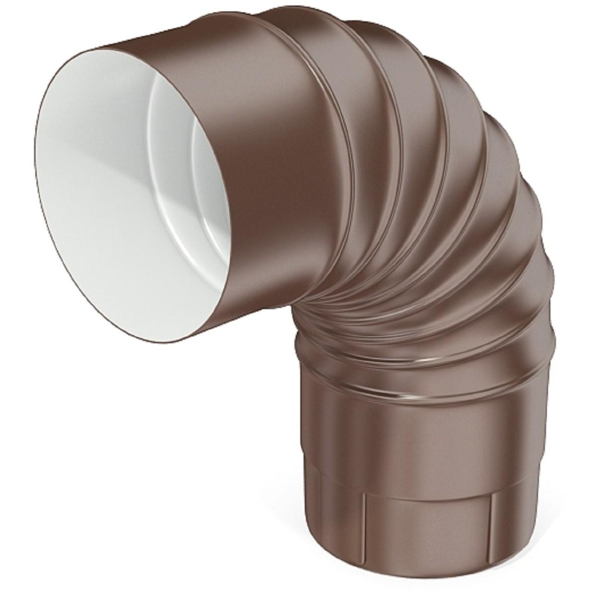 Колено круглое 100 мм цвет коричневый