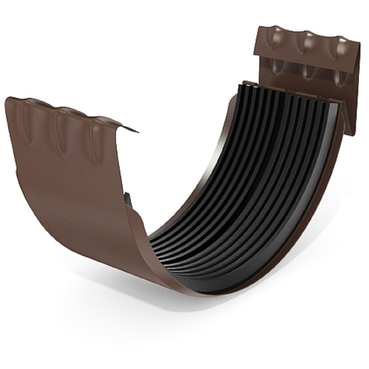 Соединитель желоба 125 мм цвет коричневый