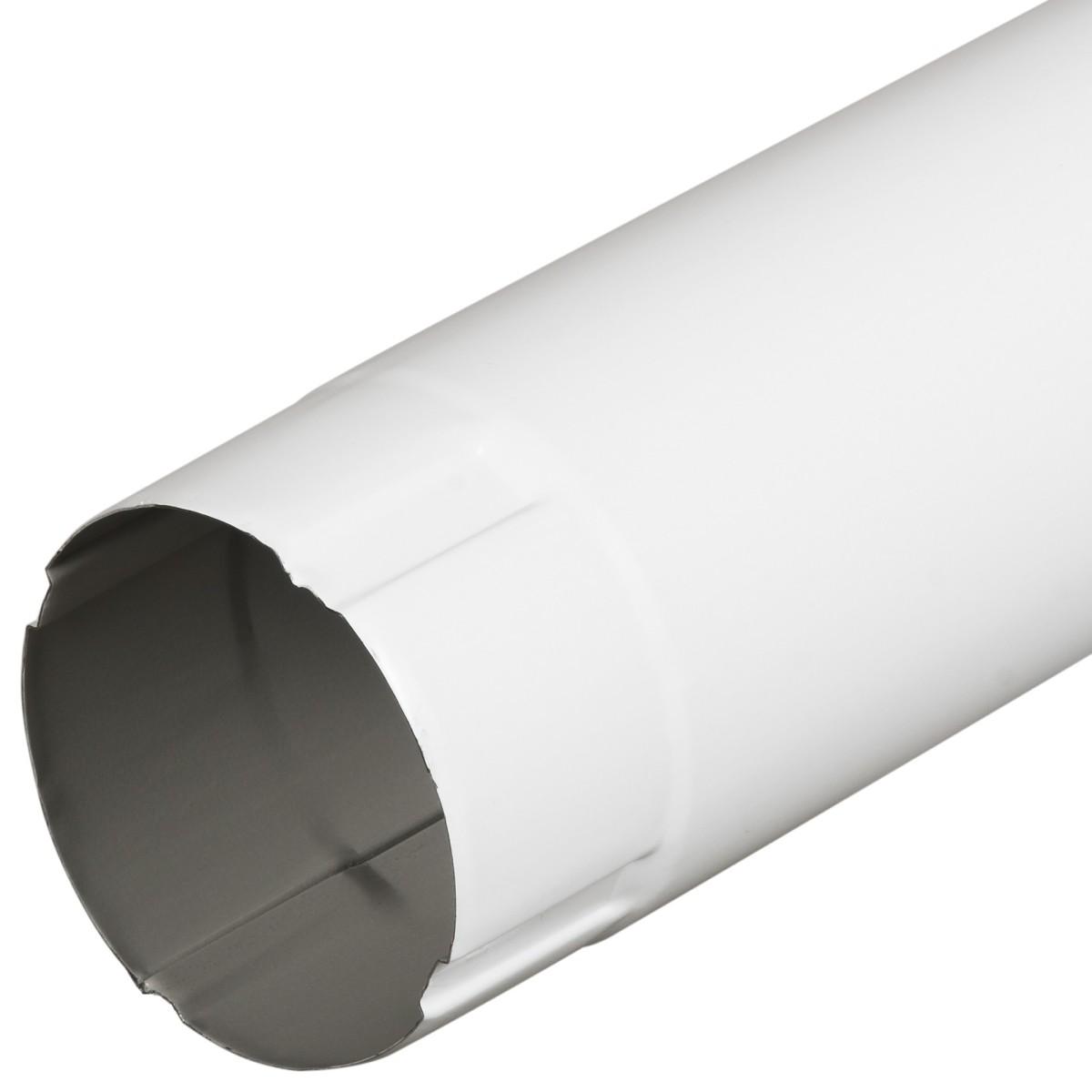 Труба водосточная 100x1000 мм цвет белый