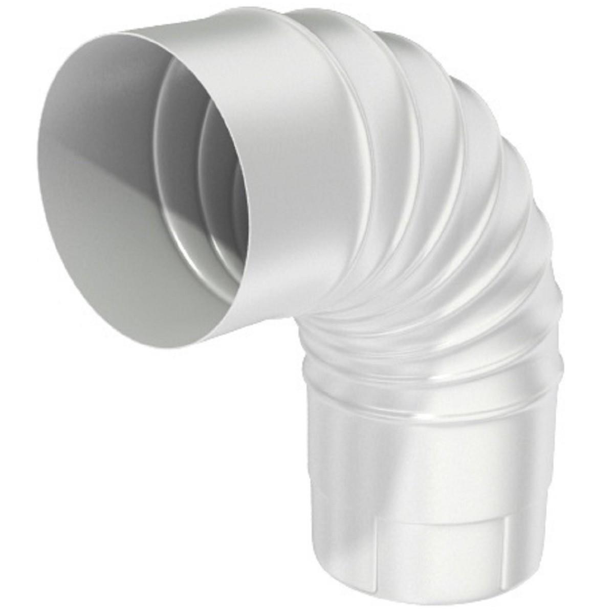 Колено круглое 100 мм цвет белый