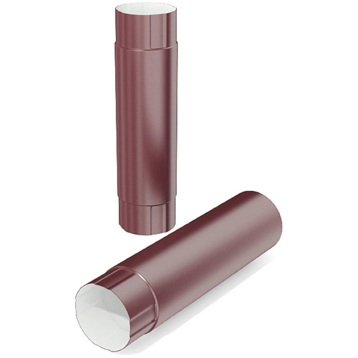 Труба водосточная 100x1000 мм цвет красный