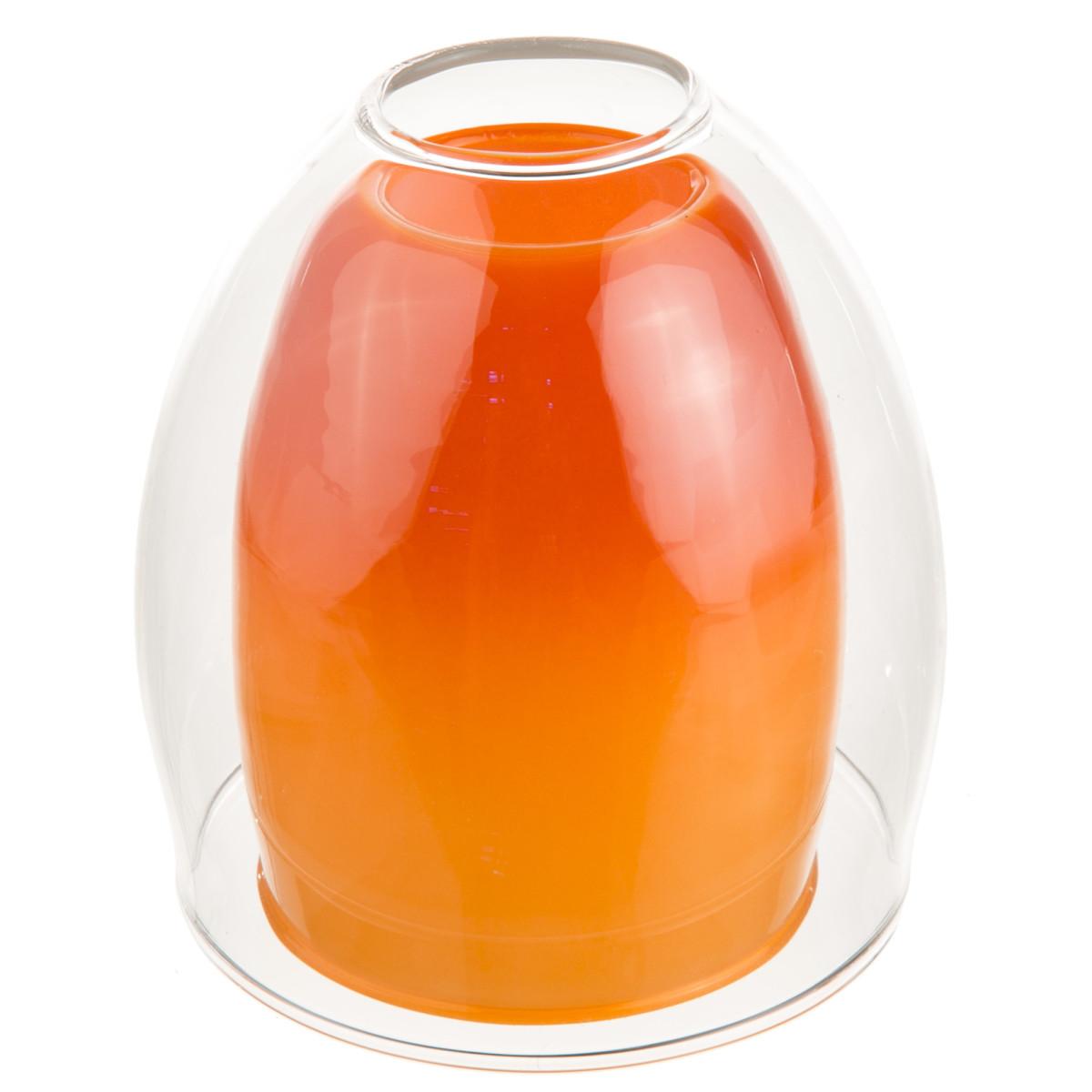 Плафон Конфетти E14 цвет прозрачный/оранжевый