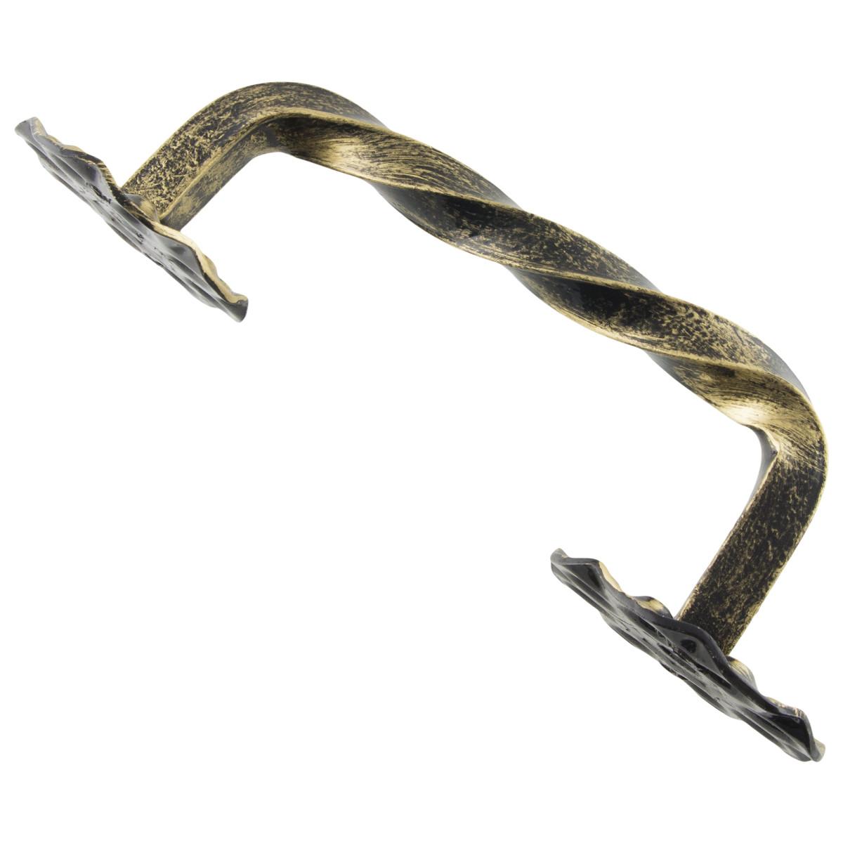 Ручка-Скоба Дверная Витая Цвет Матовое Золото