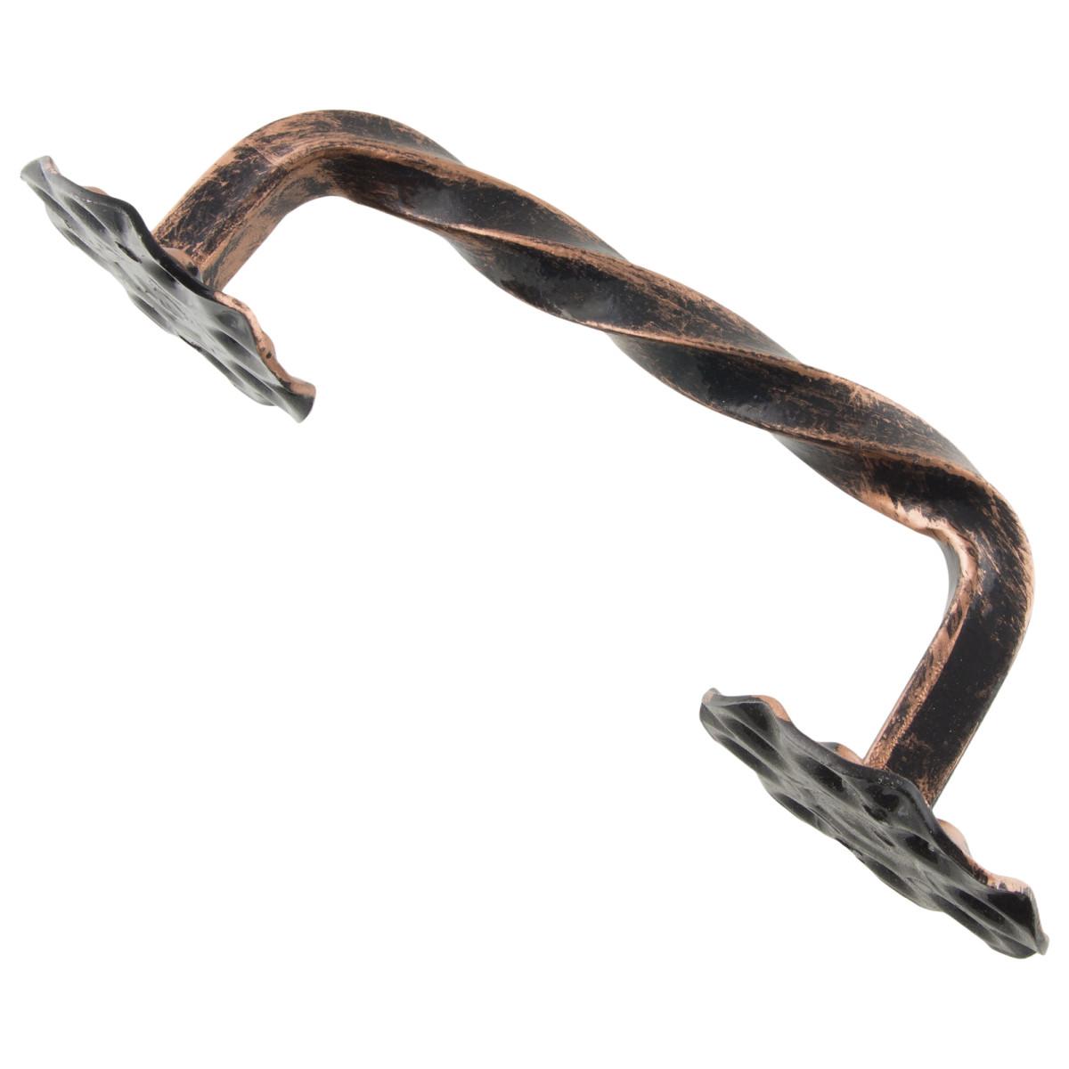 Ручка-Скоба Дверная Витая Цвет Античная Медь