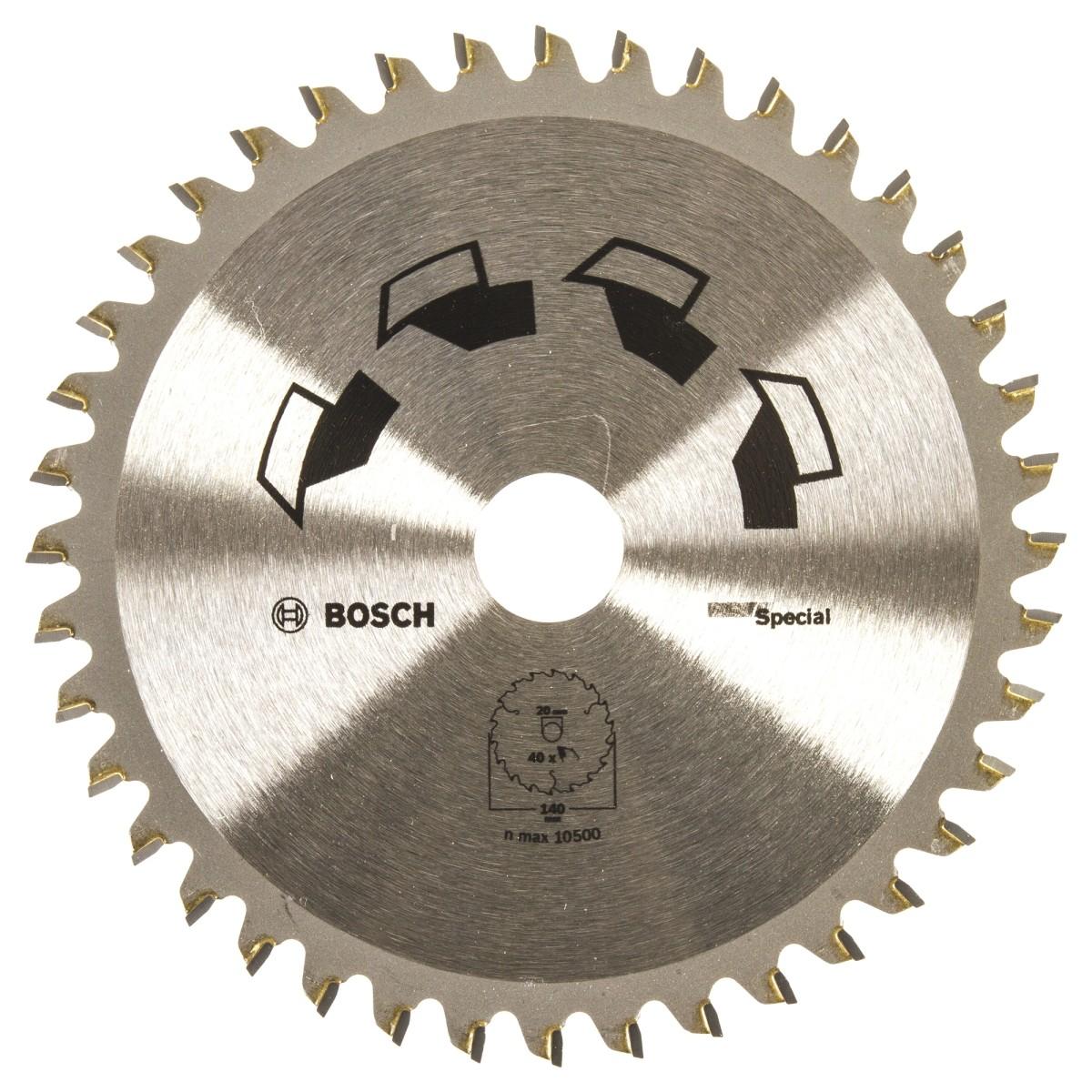 Диск пильный по дереву 140x20/12.7 мм Bosch Special 2609256885 40 Т